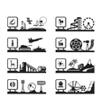 Various industries with logos vector image