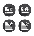 Energy efficiency icons Lamp bulb and house vector image