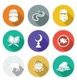 Set of Islamic Icons Set vector image