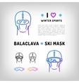 balaclava isolated icon ski mask vector image