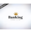 Bank finanse logo Money banking or broker and vector image