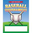 Baseball Tournament Flyer vector image