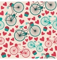 bicycle texture hipster background vector image
