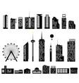 big city set elements building vector image