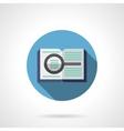 Book search round color icon vector image