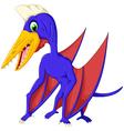 cute pterodactyl cartoon for you design vector image