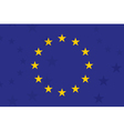 European union flag With additional stars on vector image
