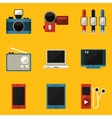 Flat icon set Device vector image