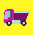 icon in flat design truck toy vector image
