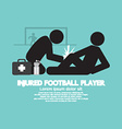 Injured Football Player vector image