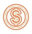 neon money symbol icon vector image