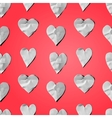 Paper hearts - seamless art craft pattern vector image