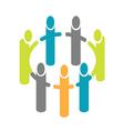People around circle logo vector image