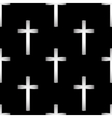 Religious cross seamless pattern vector image