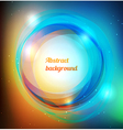 Vibrant rings background vector image