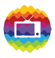 TV Rainbow Color Icon for Mobile Applications and vector image