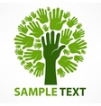 Hands of tree vector image vector image