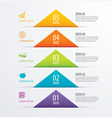5 triangle timeline infographic options paper vector image