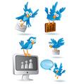 social media network bluebird vector image vector image
