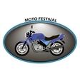 moto logo on a white background vector image