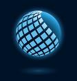 Abstract global icon vector image