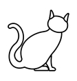 Cat icon outline style vector image
