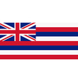 Flag of Hawaii vector image