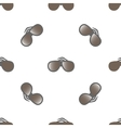 Grey glasses with gradient on white background vector image