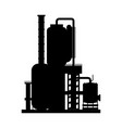 oil pump silhouette vector image