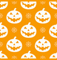 pattern with white pumkins vector image