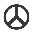 peace symbol isolated icon design vector image