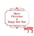 reindeer christmas card vector image