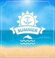 Summer Template of Holidays Design and Typography vector image