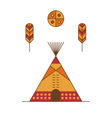 Traditional native american tipi vector image