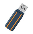 usb flash drive flat icon device and hardware vector image