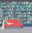 Vintage Interior Reading Room vector image