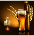beer advertising design highly realistic with vector image