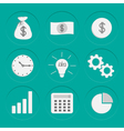 Business icons Set Flat design vector image vector image