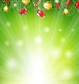 Sunburst Xmas Banner vector image vector image