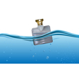 perfume bottle vector image vector image