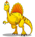 Dinosaur with spikes on the back vector image