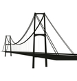 suspension cable bridge vector image
