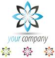 star flower logo set vector image vector image