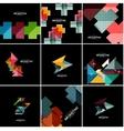 geometrical banner set vector image