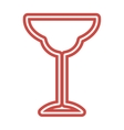 Wine Glass icon goblet symbol flat vector image