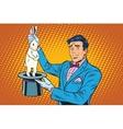 Magician trick rabbit vector image