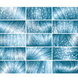 abstract bokeh background set vector image