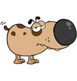 Dog Cartoon Mascot Character vector image