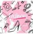 fashion sketch clutches vector image