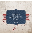 Happy Memorial Day Sign with Ribbon vector image